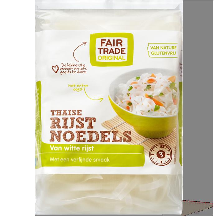Fairtrade rijstnoedels witte rijst 225 gr