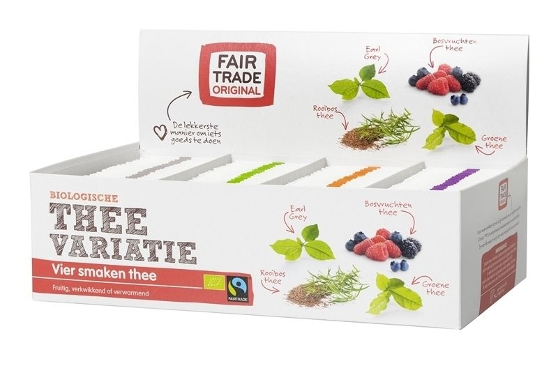 Fairtrade thee variatie BIO 4 x 25 x 2 gram /1,75 gram /1,5 gram