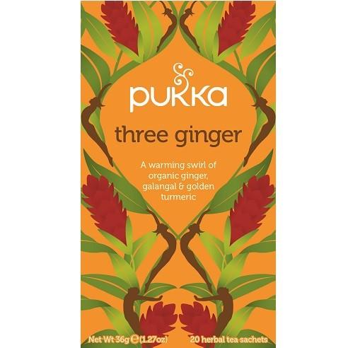 Pukka thee three ginger 20 x 2 gram
