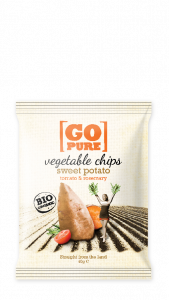 Go Pure sweet potato&rosemary chips BIO 40 gr.