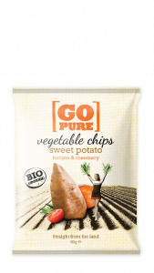 Chips sweet potato&rosemary BIO zak 80gr. Go Pure