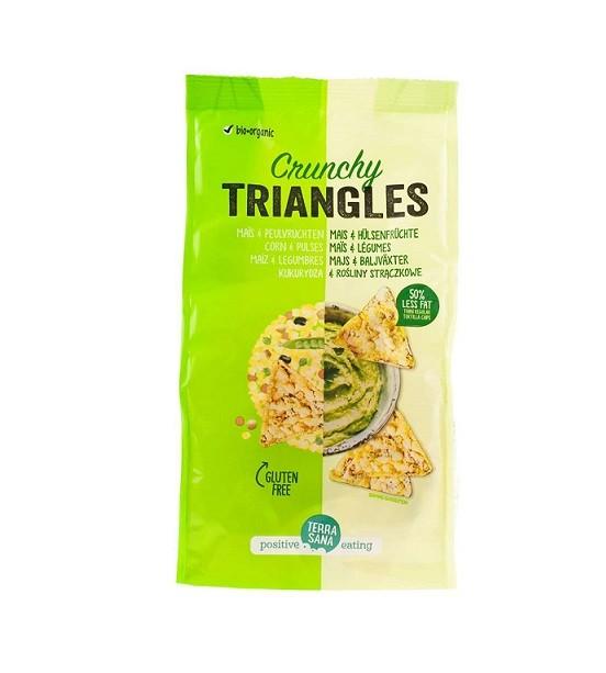 Triangles mais peulvruchten snack zak 80gr. Terrasana