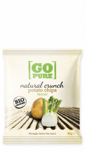 Chips natural crunch potato venkel BIO zak 40gr. Go Pure