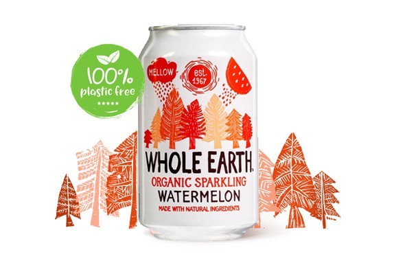 Watermeloen frisdrank BIO blik 330gr. Whole Earth