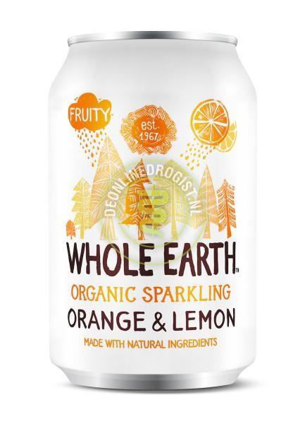 Orange & lemon frisdrank BIO 330ml. Whole Earth