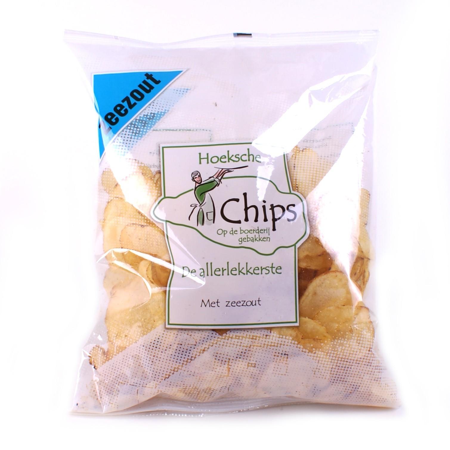 Chips zeezout zak 150gr. Heerlijke chips, zo van 't land! Hoeksche