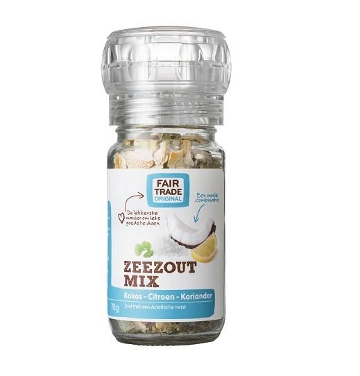 Fairtrade molen zeezoutmix Kokos-Citroen 70 gr