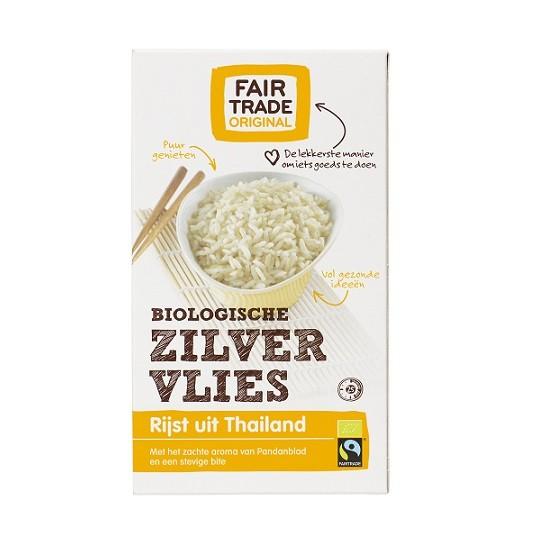 Fairtrade zilvervlies rijst bio 400 gr