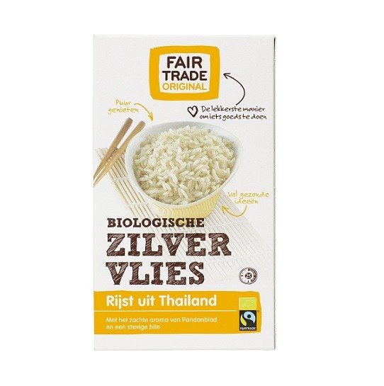 Fairtrade zilvervlies rijst bio 400 gram