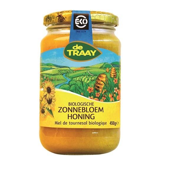 De Traay zonnebloem honing EKO 450 gr