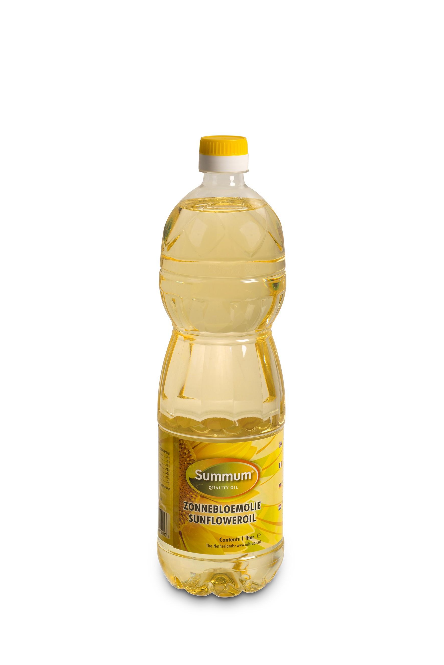 Zonnebloemolie petfles 1ltr. Summum