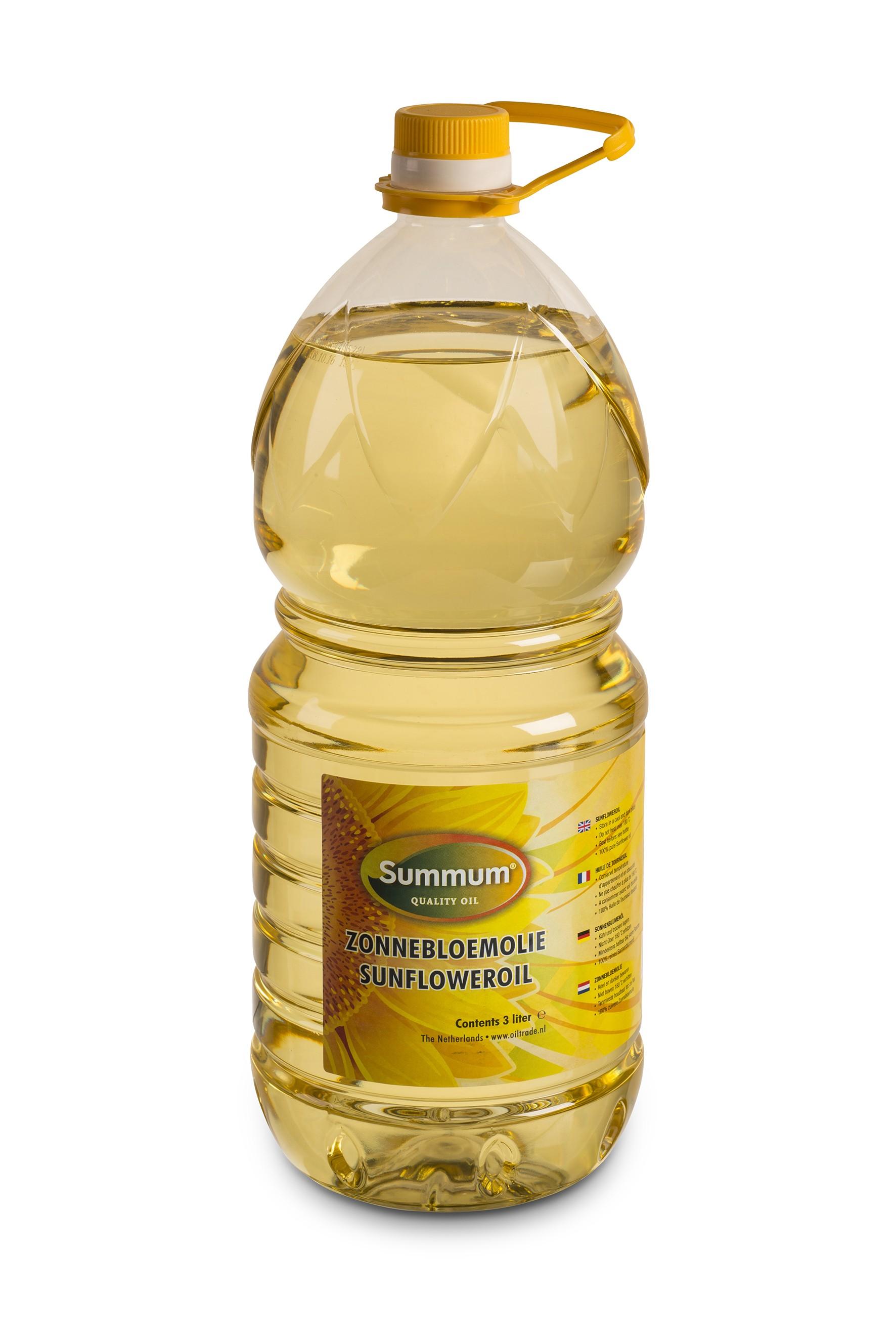 Zonnebloemolie petfles 3ltr. Summum
