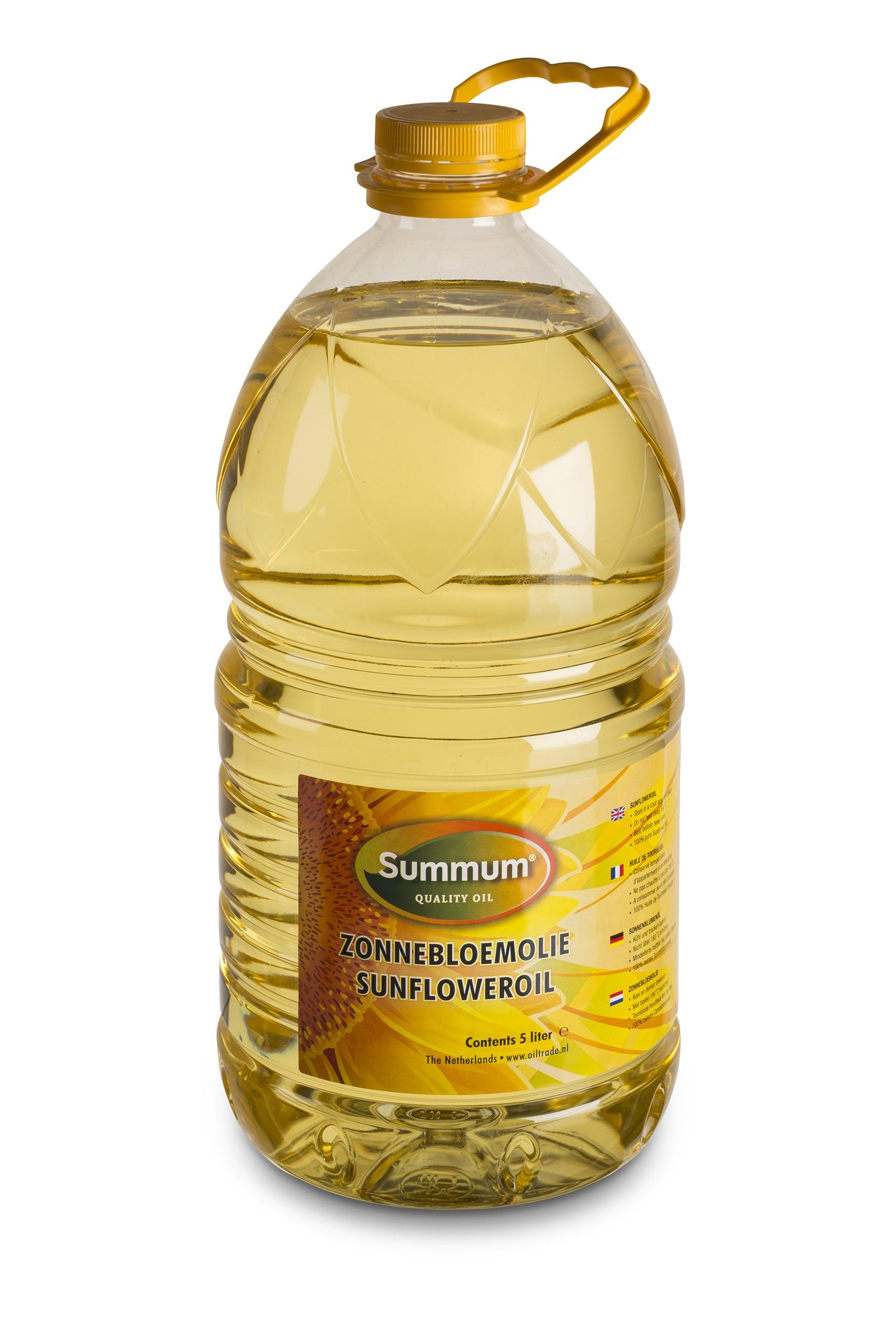 Zonnebloemolie petfles 5ltr. Summum