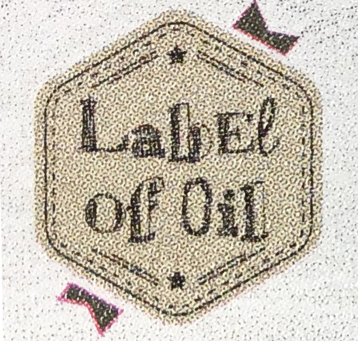 Label of Oil